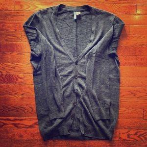 Men's H&M navy lightweight cardigan - size medium